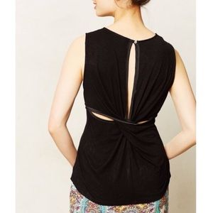 Anthropologie Dolan Astoria Black Cutout Tank Top